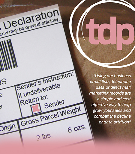 Detail of custom's declaration form on cardboard parcel